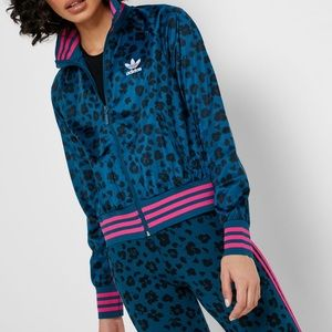 Adidas | All Over Print Full Zip Track Jacket XS